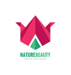 nature beauty - logo template concept vector image