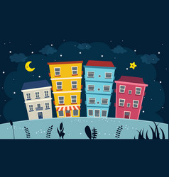 Of city view vector