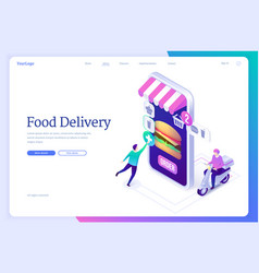 online food delivery service banner vector image