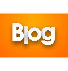Paper blog sign vector