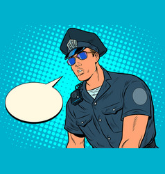 police cop officer vector image