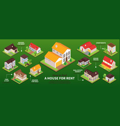 private house infographics vector image