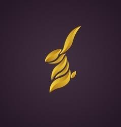 Rabbit logo vector image
