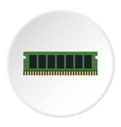 RAM icon flat style vector