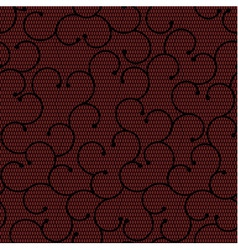 Red and black lace pattern with spirals vector
