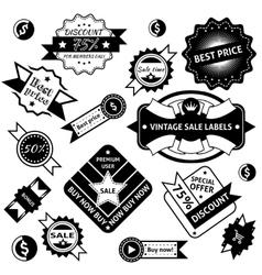 Sale labels black vector image