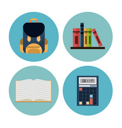 school elements icons vector image