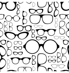 Seamless pattern from glasses vector
