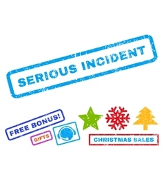 Serious Incident Rubber Stamp vector image