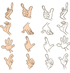 Set of hands for you design Cartoon vector image vector image