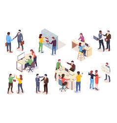 set office worker or coworker employee vector image