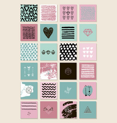 set square artistic cards banners vector image