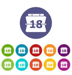 sheet calendar icon simple style vector image
