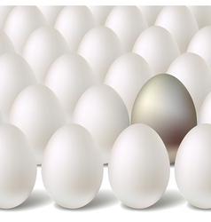 silver egg concept vector image