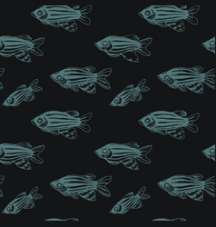sketch - fish pattern vector image