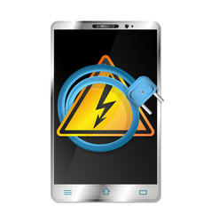 Smartphone and electrical plug vector