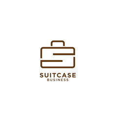 suitcase graphic design template vector image