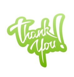 Thank You lettering Sticker vector image