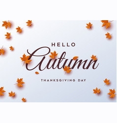 Thanksgiving day banner background greeting card vector