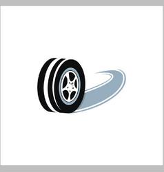 tire logo vector image