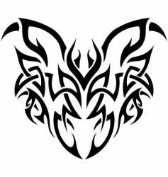 tribal demon vector image