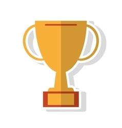 Trophy cup of winner concept vector