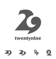 Twenty nine symbol bundle set vector