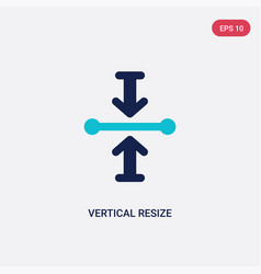 Two color vertical resize icon from arrows vector