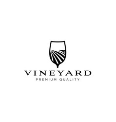 vineyard logo design inspiration vector image