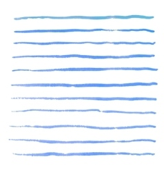 Watercolor stripes strokes brushes vector image vector image