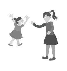 waving goodbye vector image