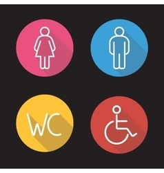WC toilet entrance signs vector image