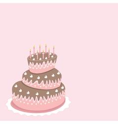 wedding cake valentines day vector image