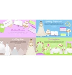 Wedding Planning Preparation Decor Dress Banner vector image