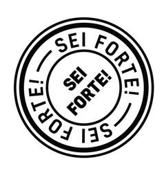 You rock stamp in italian vector