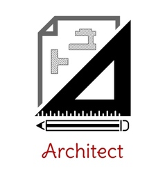 Black and white architect icon vector image vector image
