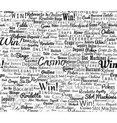 Casino typographic seamless vector image vector image
