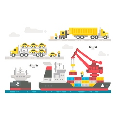 Flat design trading port activation vector image