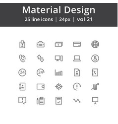 material design user interface icons vector image