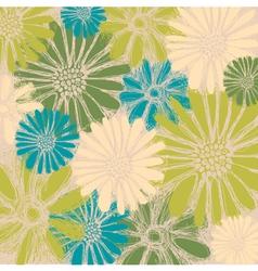 Vintage Flower Blossom Background vector image vector image