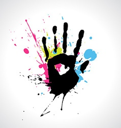 abstract hand vector image