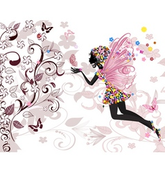 fairy pattern vector image vector image