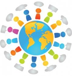 global dialog vector image vector image