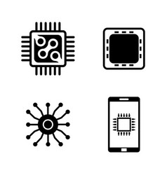electronics simple related icons vector image