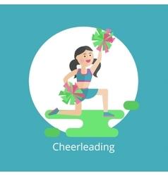 Girl - a cheerleader vector image