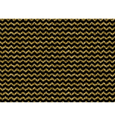Gold glitter dots zigzag pattern vector image vector image