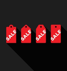 Set of sale tags flat design icon vector image
