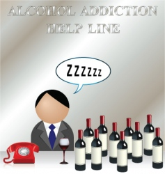 alcohol addiction vector image vector image