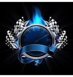 Blue emblem races vector