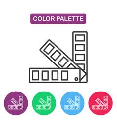 Color palette guide logotype design templates vector